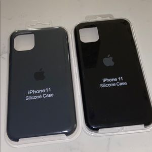 iPhone 11 silicone case black or grey